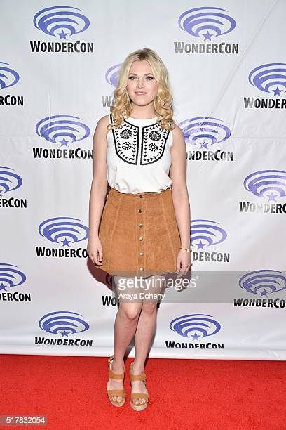 Eliza Taylor attends 'The 100' panel at WonderCon at Los Angeles Convention Center on March 27 2016 in Los Angeles California