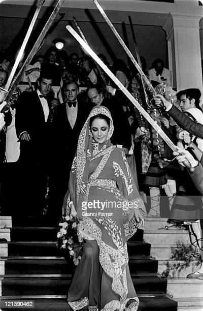 Elizabet Taylor attends the 21th San Sebastian International Film Festival, 18th September 1973, San Sebastian, Spain.