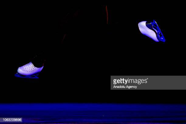 Elizabet Tursynbaeva of Kazakhstan performs during the Gala Exhibition of the ISU GP Rostelecom Cup 2018 at the Megasport Arena in Moscow Russia on...