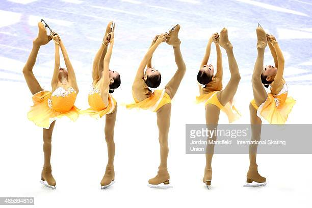 Elizabet Tursynbaeva of Kazakhstan performs during the Women's Free Skating on Day 3 of the ISU World Junior Figure Skating Championships at...