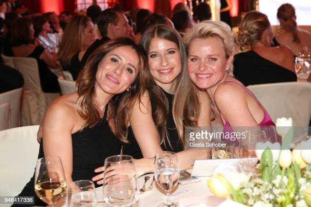 Elizabeta Zefi Cathy Hummels Dr Barbara Sturm during the Gala Spa Awards at Brenners ParkHotel Spa on April 14 2018 in BadenBaden Germany