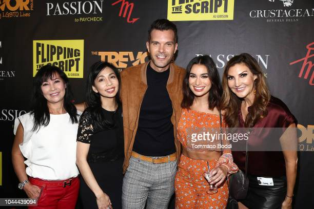 Elizabeth An AJ Gibson Ashley Iaconetti and Heather McDonald attend the Crustacean Beverly Hills Hosts AJ Gibson's Flipping The Script Book Launch...