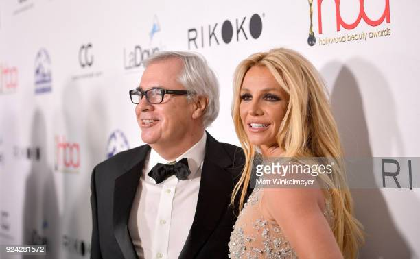 Elizabeth Arden EVP Global Fragrance Marketing Ron Rolleston and Britney Spears attends the 4th Hollywood Beauty Awards at Avalon Hollywood on...