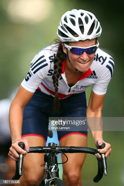Elizabeth Armitstead of Great Britain in action during the Elite Women's Road Race on September 28 2013 in Florence Italy