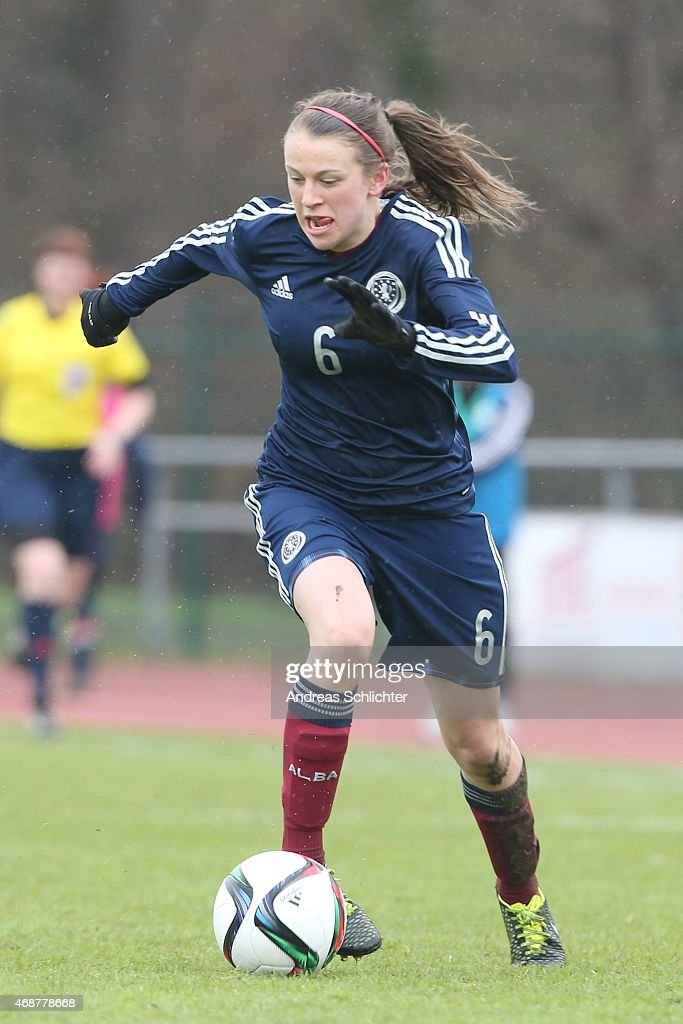 U19 Women's Germany v U19 Women's Scotland - UEFA Under19 Women's Elite Round : Nieuwsfoto's