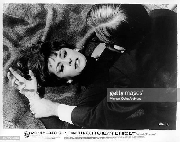 Elizabeth Ashley fights off Arte Johnson in a scene from the Warner Bros movie The Third Day circa 1965