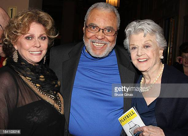 Elizabeth Ashley James Earl Jones and Angela Lansbury attend the Who's Afraid Of Virginia Woolf Broadway Opening Night at The Booth Theatre on...