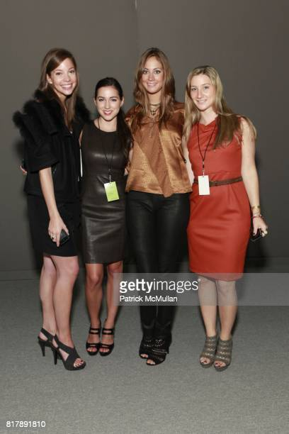 Elizabeth Baker Alissa Micciulla Erin Gray and Marisa Danson attend ELIE TAHARI Spring 2011 Fashion Show at The Studio at Lincoln Center on September...