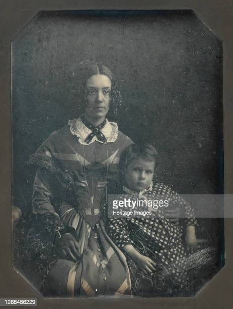 Elizabeth Bakewell James and her Son, Frank B. James, circa 1846. Artist Attributed to John Plumbe Jr..