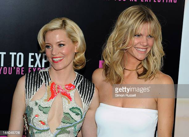 Elizabeth Banks and Brooklyn Decker attend the What To Expect When You're Expecting New York Screening at AMC Lincoln Square Theater on May 8 2012 in...