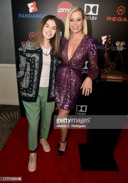 Elizabeth Banks and Destiny Rogers attend the Will Rogers 78th Annual Pioneer Dinner honoring Elizabeth Banks at The Beverly Hilton Hotel on...
