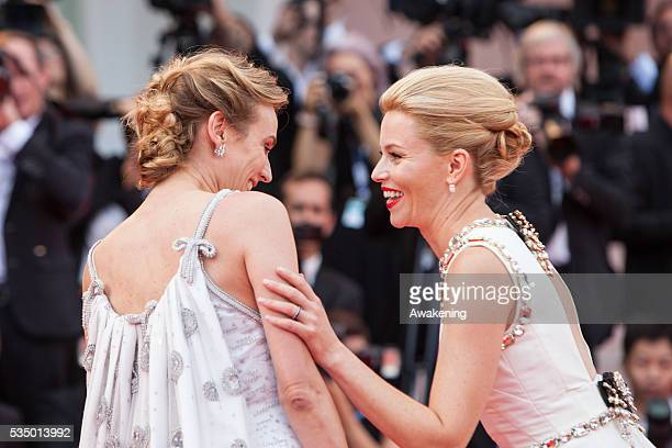 Elizabeth Banks and Diane Kruger attend the opening ceremony and premiere of 'Everest' during the 72nd Venice Film Festival on September 2 2015 in...
