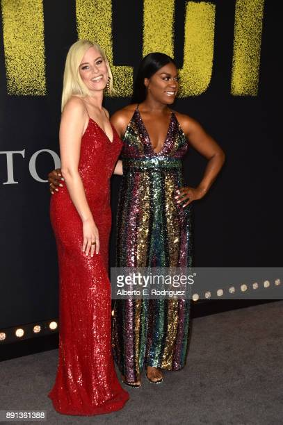 Elizabeth Banks and Ester Dean attend the premiere of Universal Pictures' Pitch Perfect 3 at Dolby Theatre on December 12 2017 in Hollywood California