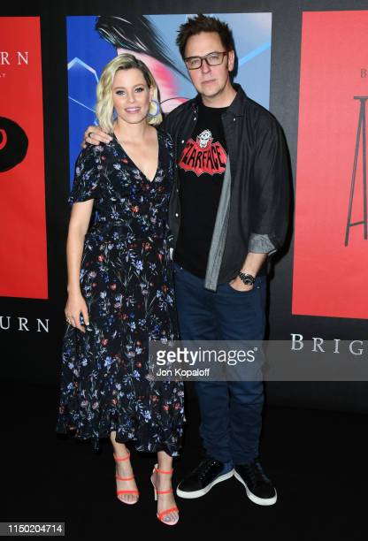 """Elizabeth Banks and James Gunn attend Sony Pictures' """"Brightburn"""" Photo Call at Four Seasons Los Angeles at Beverly Hills on May 18, 2019 in Los..."""