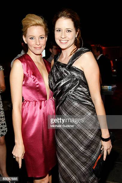 Elizabeth Banks and Jenna Fischer attend a party hosted by InStyle for Tommy Hilfiger's Bravo TV special Ironic Iconic America at the Thompson Hotel...