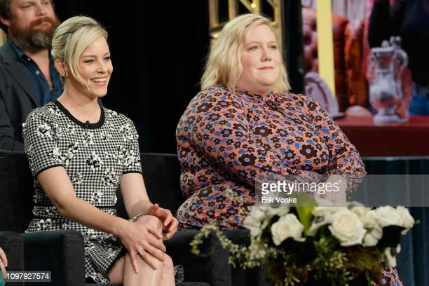 Elizabeth Banks and Lindy West of 'Shrill' speaks onstage during the Hulu Panel during the Winter TCA 2019 on February 11 2019 in Pasadena California
