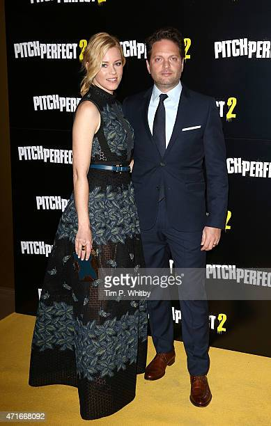 Elizabeth Banks and Max Handelman attend a VIP screening of Pitch Perfect 2 at The Mayfair Hotel on April 30 2015 in London England