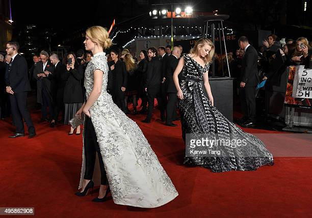 Elizabeth Banks and Natalie Dormer attend The Hunger Games Mockingjay Part 2 UK Premiere at Odeon Leicester Square on November 5 2015 in London...
