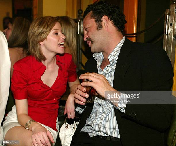 Elizabeth Banks and Vince Vaughn during Playstation 2 Hosts the Movieline Young Hollywood Awards After-Party in Los Angeles, California, United...