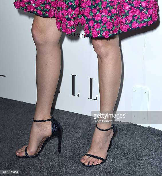 Elizabeth Banks arrives at the 2014 ELLE Women In Hollywood Awards at Four Seasons Hotel Los Angeles at Beverly Hills on October 20 2014 in Beverly...