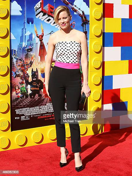 Elizabeth Banks arrives at the Los Angeles premiere of The Lego Movie held at Regency Village Theatre on February 1 2014 in Westwood California