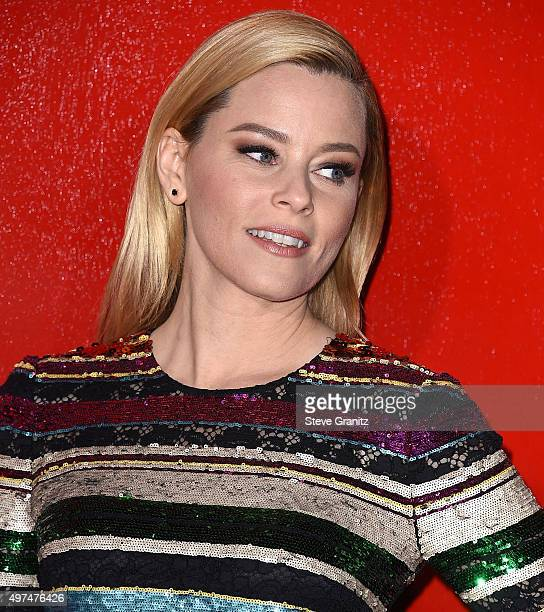 "Elizabeth Banks arrives at the Premiere Of Lionsgate's ""The Hunger Games: Mockingjay - Part 2"" at Microsoft Theater on November 16, 2015 in Los..."