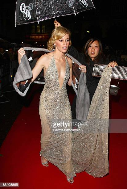 Elizabeth Banks arrives at the screening of 'W' during the BFI 52nd London Film Festival at the Odeon Leicester Square on October 23 2008 in London...
