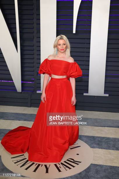 Elizabeth Banks arrives for the 2019 Vanity Fair Oscar Party at the Wallis Annenberg Center for the Performing Arts on February 24 2019 in Beverly...