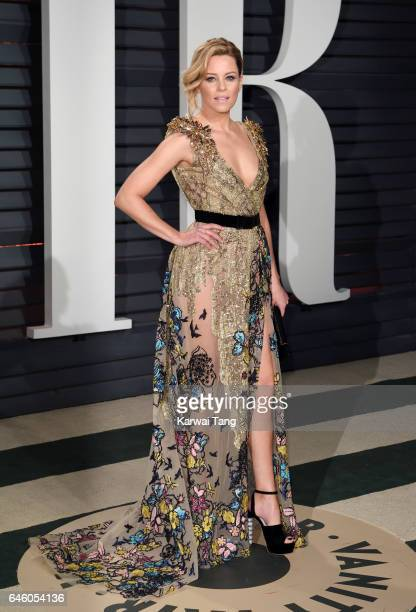 Elizabeth Banks arrives for the Vanity Fair Oscar Party hosted by Graydon Carter at the Wallis Annenberg Center for the Performing Arts on February...