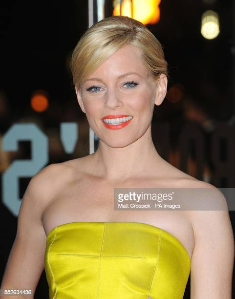Elizabeth Banks arriving for the World Premiere of The Hunger Games Catching Fire at the Odeon Leicester Square London