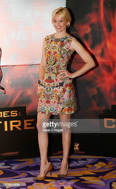 Elizabeth Banks attends a photocall for 'The Hunger Games Catching Fire' at Corinthia Hotel London on November 11 2013 in London England