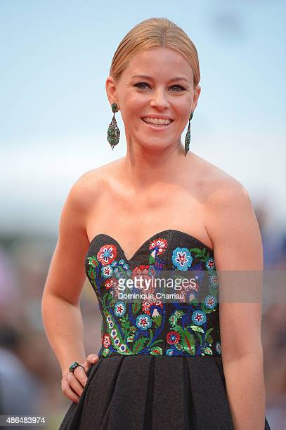 Elizabeth Banks attends a premiere for 'Black Mass' during the 72nd Venice Film Festival on September 4 2015 in Venice Italy