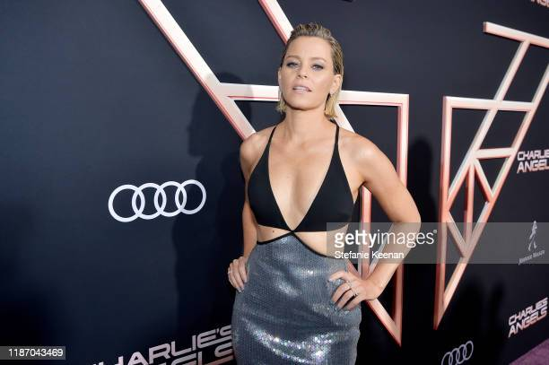 Elizabeth Banks attends Audi Arrivals At The World Premiere Of Charlie's Angels on November 11 2019 in Los Angeles California