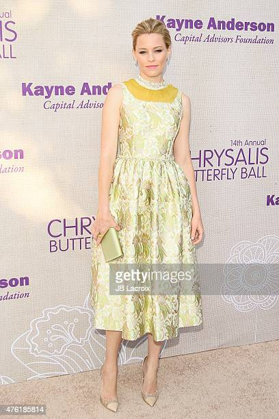 Elizabeth Banks attends the 14th annual Chrysalis Butterfly Ball sponsored by Audi Kayne Anderson Lauren B Beauty and Z Gallerie on June 6 2015 in...
