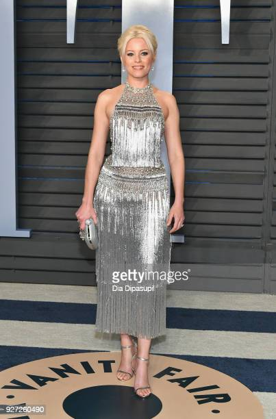 Elizabeth Banks attends the 2018 Vanity Fair Oscar Party hosted by Radhika Jones at Wallis Annenberg Center for the Performing Arts on March 4 2018...