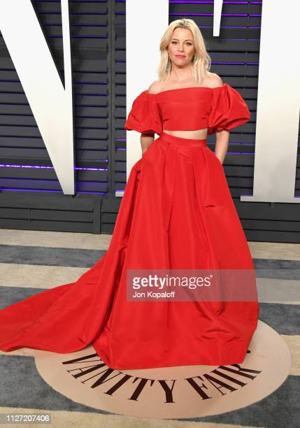 Elizabeth Banks attends the 2019 Vanity Fair Oscar Party hosted by Radhika Jones at Wallis Annenberg Center for the Performing Arts on February 24...