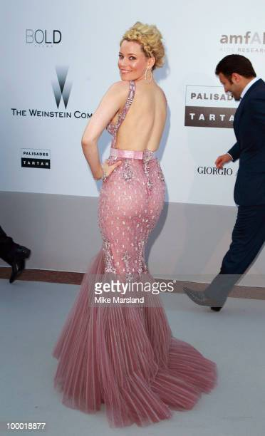 Elizabeth Banks attends the amfAR's Cinema Against Aids Gala at the Hotel Du Cap during the 63rd International Cannes Film Festival on May 20 2010 in...