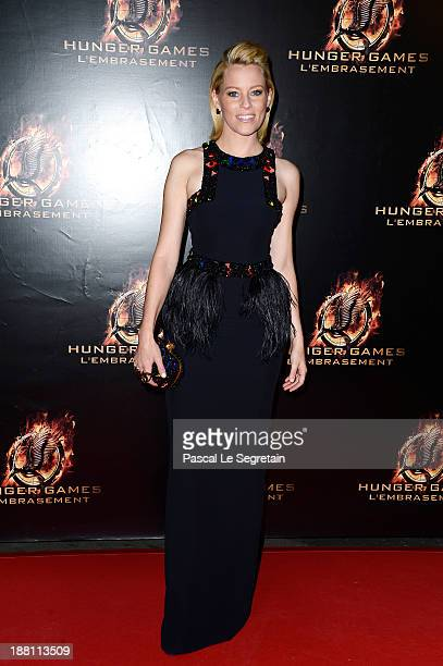 Elizabeth Banks attends 'The Hunger Games Catching Fire' Paris Premiere at Le Grand Rex on November 15 2013 in Paris France