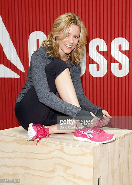 Elizabeth Banks attends the launch of Reebok's 'The Sport Of Fitness Has Arrived' campaign at 82 Mercer on January 26 2012 in New York City