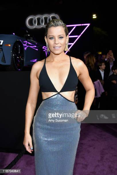 """Elizabeth Banks attends the premiere of Columbia Pictures' """"Charlie's Angels"""" at Westwood Regency Theater on November 11, 2019 in Los Angeles,..."""