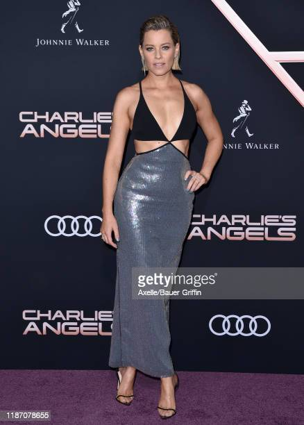 Elizabeth Banks attends the Premiere of Columbia Pictures' Charlie's Angels at Westwood Regency Theater on November 11 2019 in Los Angeles California