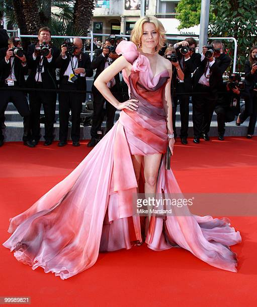 Elizabeth Banks attends the premiere of 'Poetry' held at the Palais des Festivals during the 63rd Annual International Cannes Film Festival on May 19...