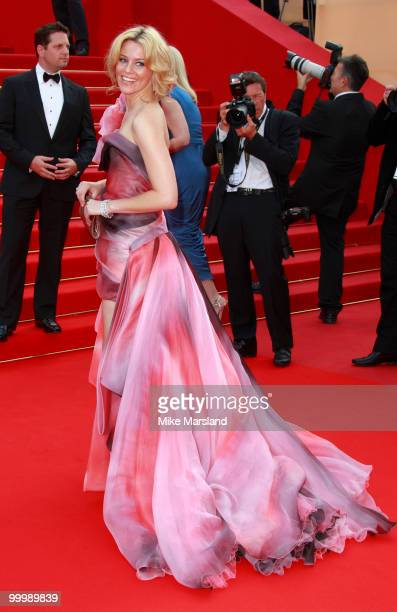 Elizabeth Banks attends the premiere of 'Poetry' held at the Palais des Festivals during the 63rd Annual International Cannes Film Festival on May...