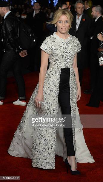 Elizabeth Banks attends the premiere of The Hunger Games: Mockingjay Part 2 at Odeon, Leicester Square.