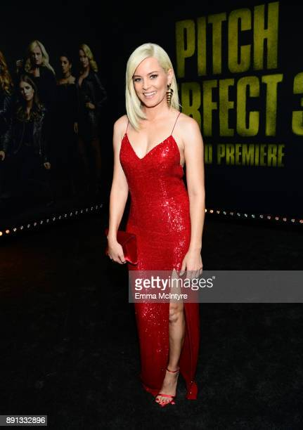 Elizabeth Banks attends the premiere of Universal Pictures' 'Pitch Perfect 3' at Dolby Theatre on December 12 2017 in Hollywood California