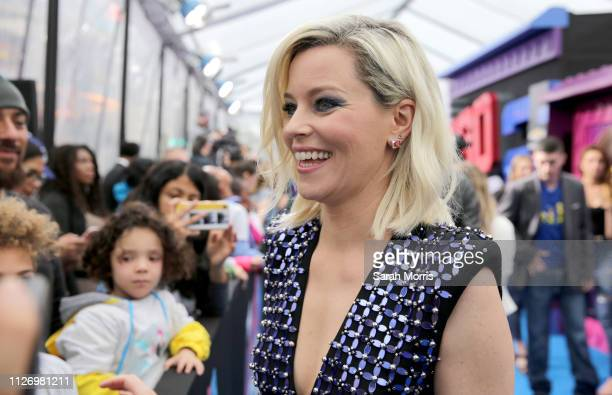 Elizabeth Banks attends the premiere of Warner Bros Pictures' The Lego Movie 2 The Second Part at Regency Village Theatre on February 02 2019 in...