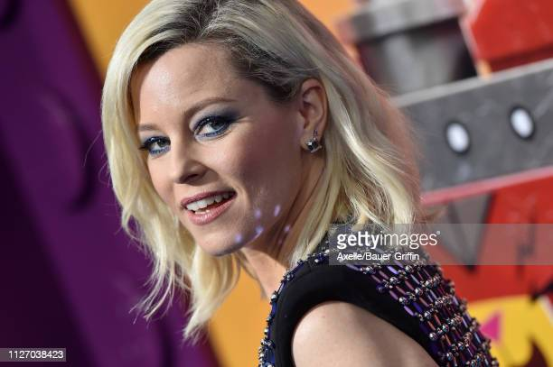 Elizabeth Banks attends the premiere of Warner Bros. Pictures' 'The Lego Movie 2: The Second Part' at Regency Village Theatre on February 02, 2019 in...