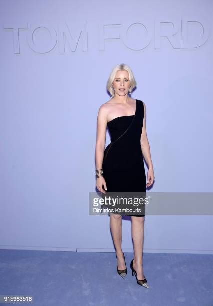 Elizabeth Banks attends the Tom Ford Fall/Winter 2018 Women's Runway Show at the Park Avenue Armory on February 8 2018 in New York City