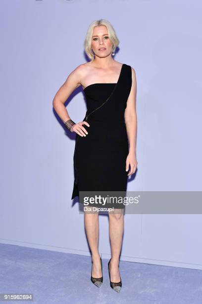 Elizabeth Banks attends the Tom Ford Women's Fall/Winter 2018 fashion show during New York Fashion Week at Park Avenue Armory on February 8 2018 in...