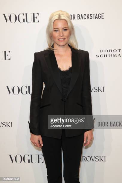 Elizabeth Banks attends the VOGUE Fashion Party at Kunstareal am Weissensee on July 6 2018 in Berlin Germany
